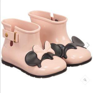 Minnie Melissa pink Mickey Minnie rain boots 6